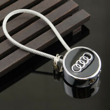 For Audi Wire Rope Key Chain Metal Key Ring Fashion New Car Logos