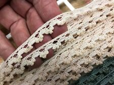 "VINTAGE Petite 3/8"" CLUNY SCALLOP LACE TRIM Nude Blush1yd Made in France Dolls"
