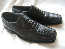 Stacy Adams Alligator Embossed Loafer Shoes Mens Size 10.5 VGC Made in India