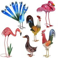 Decorative Birds Outdoor Garden Weather Resistant Metal Pond Lawn Ornament Decor