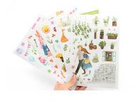 Large 5 sheets girl's family Decorative diary notebook album calendar sticker