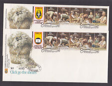 1986 STAMPEX LOGO FDCS CLICK GO THE SHEARS LIMITED EDITION.