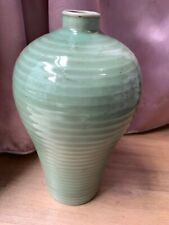 Large Antique Chinese Green-glazed Crackle Export Porcelain Vases