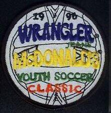 MCDONALDS YOUTH SOCCER WRANGLER JEANS 1996 FOOTBALL JERSEY LOGO PATCH NEW