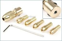 2mm 7pcs Small 0.5mm - 3mm Brass Collet Electric Drill Bit Chuck Set Wrench Tool