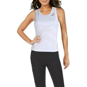 Asics Womens White Tennis Fitness Workout Tank Top Athletic XL  8707
