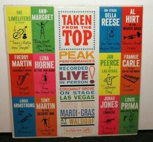 TAKEN FROM THE TOP LOUIS PRIMA AL HIRT LENA HORNE (VG+) PR-128 LP VINYL RECORD