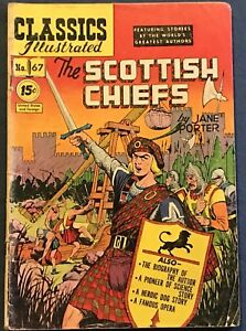 Classics Illustrated #67  The Scottish Chiefs  Jane Porter  HRN #85