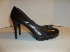 8dd429e33cba Womens Size 9.5M Christian Siriano for Payless Brown Snake Print Pumps Heels