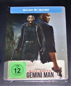 Gemini Man 3D Con Vuole Smith Limitata steelbook 3D blu ray+ ray Nuovo &