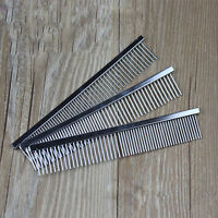 Pet Dog Cat Metal Double Row Teeth Grooming Hair Comb Brush Fur Rake Tool