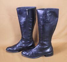 21S s. Oliver Damen Stiefel Boots Leder Gr. 38 schwarz Blockabsatz Reiterlook