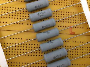 430 Ohm 5% 4W Metal Oxide Film Resistor Flame Proof Vishay SXA0922 Multi Qty
