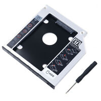 Universal SATA 2nd HDD HD SSD Enclosure Hard Drive Caddy Case Tray, for 9.5 D8S4