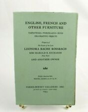 1943 Parke-Bernet English French & Other Furniture Tapestries Auction Catalog