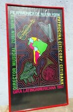 Poster Pop Years 1987 Philharmonic New York Latin American tour