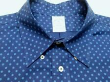 BROOKS BROTHERS REGENT Btn-Down Navy Blue Polka Dots Cotton Long Sleeve Shirt XL