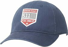 5.11 Tactical Mission Ready Tactical Cap Hat Pacific Navy Blue Cotton Canvas New