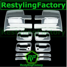09-14 Ford F150 Chrome Towing Mirror+4 Door Handle+keypad+with PSG keyhole Cover