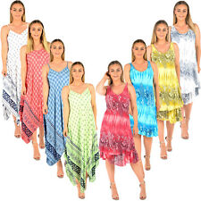 LADIES ITALIAN DRESSES LAGENLOOK LINEN TUNIC CASUAL QUIRKY COCOON SUMMER DRESS