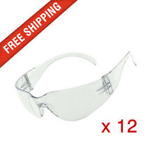 12 x Clear Lab Safety Vented Glasses Eye Protection PPE Australian Standards