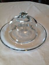 Princess House Heritage Cheese Plate And Dome Lid