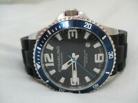 Stuhrling Swiss Watch Professional Diver WR 200M Date Indicator WORKING!