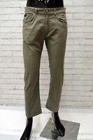 Pantalone Uomo TRUSSARDI Taglia Size 44 Jeans Pants Man Cotone Regular Fit Corto