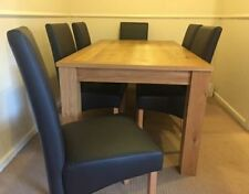 Oak Up to 6 Seats Dining Tables Sets with Additional Leaves