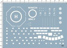 1/350 1/700 Scale winch only Helicopter Deck Water Line Ship Model Marine Decal