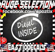 (2) DIESEL Inside vinyl sticker decal funny DIESEL TRUCK STICKER POWERSTROKE