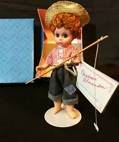 "Madame Alexander Doll 8"" HUCKLEBERRY FINN 490 Fishing Pole Hat Stand Vintage A++"