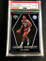 BEN SIMMONS 2016 PANINI TOTALLY CERTIFIED FRANCHISE FOUNDATIONS ROOKIE PSA 10