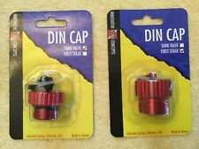 Innovative Scuba Din Caps - 1 Tank Valve & 1 First stage Din Dust Caps - Red