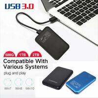 "External Hard Disk Box 2TB Portable  USB 3.0  2.5"" HDD/SSD For PC Laptop Windows"