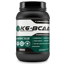 K6 + BCAA (3 Kg - Vanille) 6 Komponenten Protein Eiweiß Molke Casein Soja
