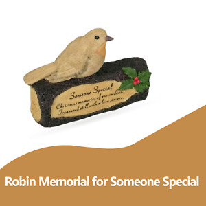 Robin Memorial Log Grave Ornaments Christmas Gifts for Tribute Someone Special