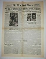 N857 La Une Du Journal The New York times 1953 Rosenberg executed
