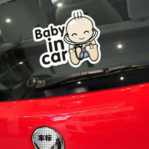 Fun&cute car decal/sticker of Baby In Car / Baby on Board for baby boy or girl