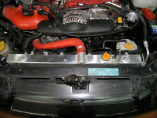 "Aluminum Radiator + Shroud + Two 12"" Fans For 02-07 SUBARU WRX Sti 2.5L MT"
