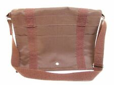 Authentic HERMES Canvas Her Line Brown Messenger&Cross-body bag Busas MM #6007