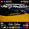 """JDM Need For Speed Most Wanted Car Decal 24"""" Windshield Vinyl Sticker Drift 003"""