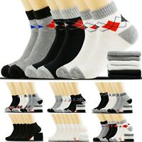Men Women Ankle Athletic Quarter Low Cut Crew Cotton Socks Sport Size 9-11 10-13