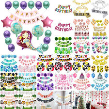 Happy Birthday Bunting Banner Balloons Hanging Letters Garland Party Decor Set
