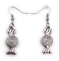 Ohrringe Paar Lolli Bonbon Naschen Ohrring aus Metall Ohrschmuck