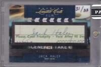 JACK HALEY 2011 DONRUSS LIMITED CUTS FILM AUTO #31/33 TIN MAN AUTOGRAPH CHECK