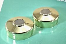 (Lot of 2) Metal Round End Cap For 42mm Staircase Bannister Timber Handrail