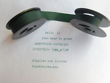 Royal Quiet Deluxe Portable Typewriter Ribbon GREEN INK  - VERY COOL