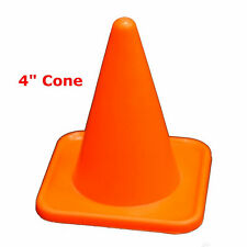 "4"" INCH MINI CONES (LOT OF 12) ORANGE SPORTS AGILITY FIELD ROAD SOCCER TRAINING"