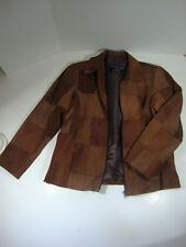 Silvia Y Mario Leather Jacket Womens XL Brown Shades
